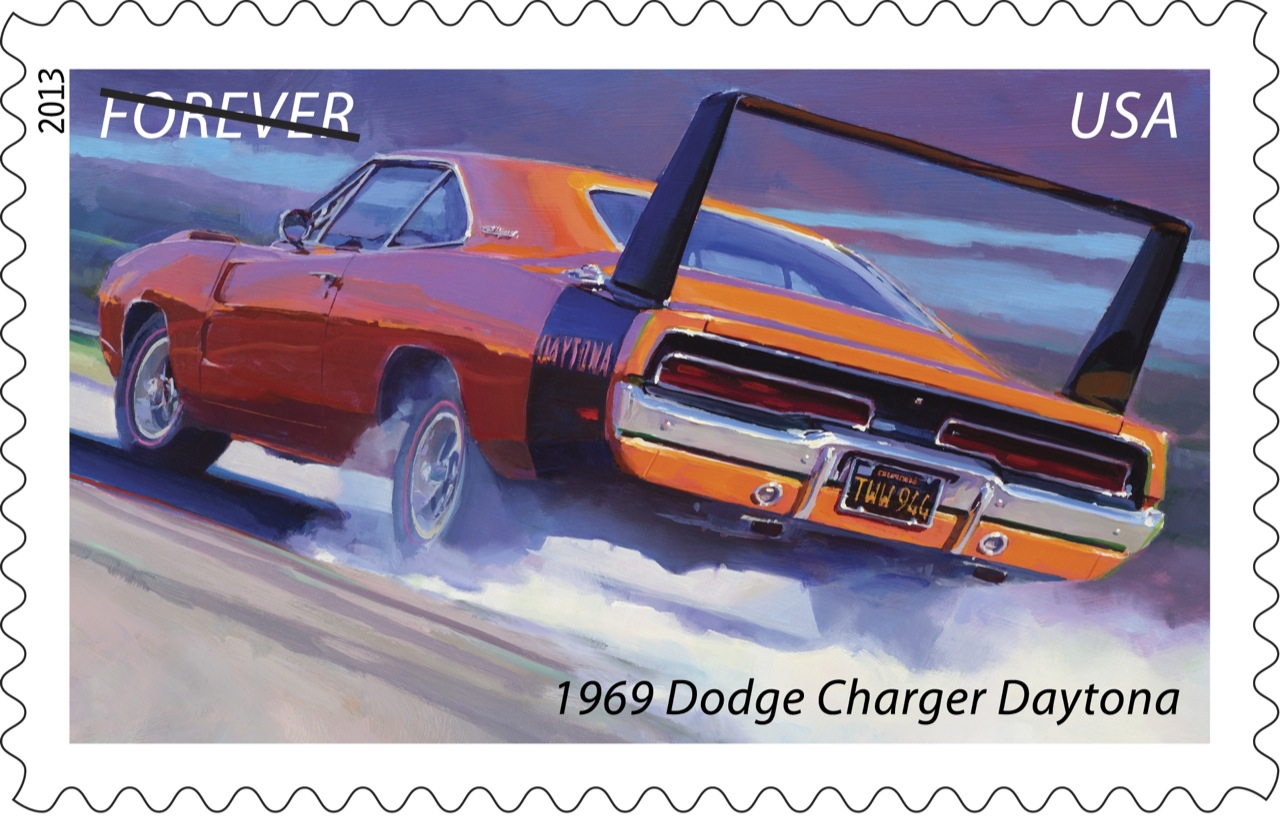 1969 Dodge Charger Daytona stamp
