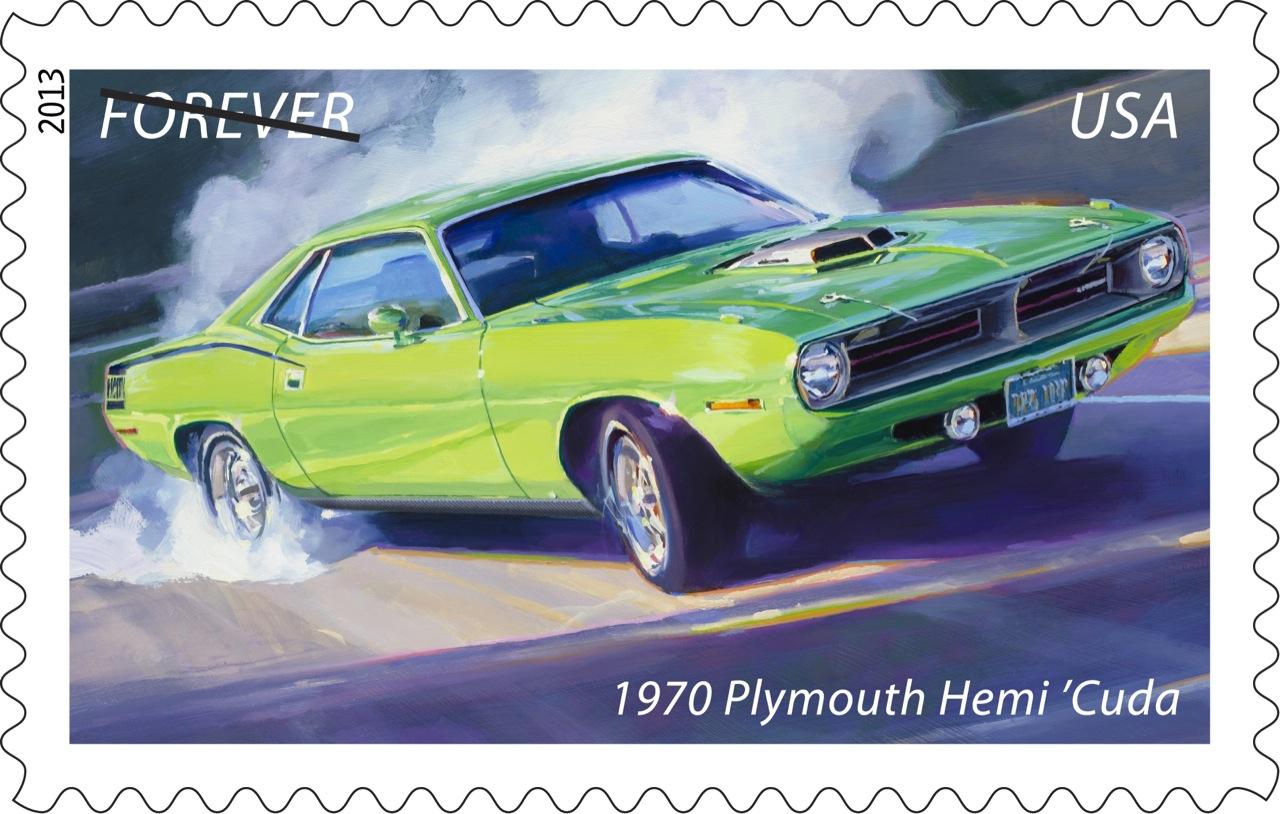 1970 Plymouth Hemi 'Cuda stamp