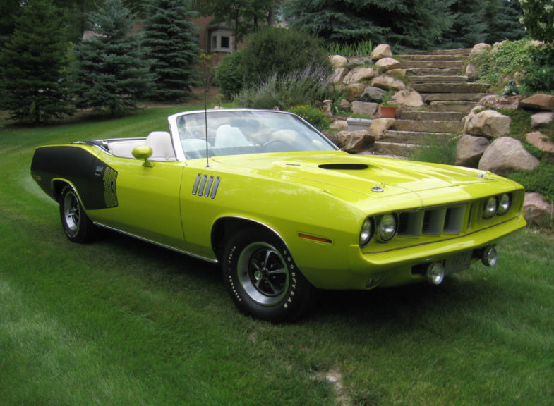 Curious Yellow 1971 Plymouth Cuda Convertible