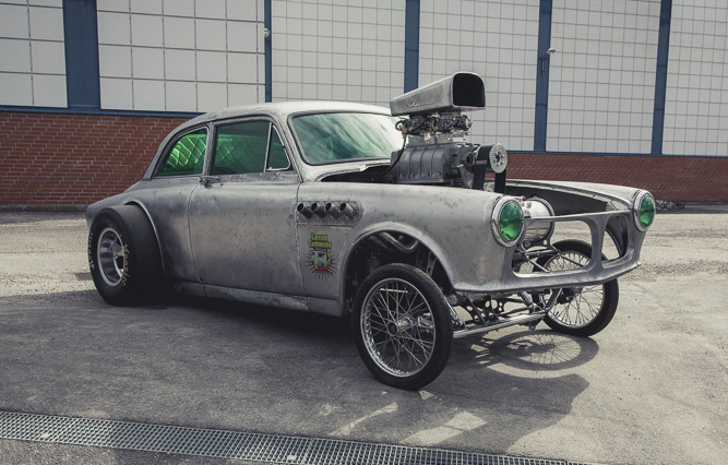 Hemi powered volvo gasser that s actually a 331 cubic inch hemi