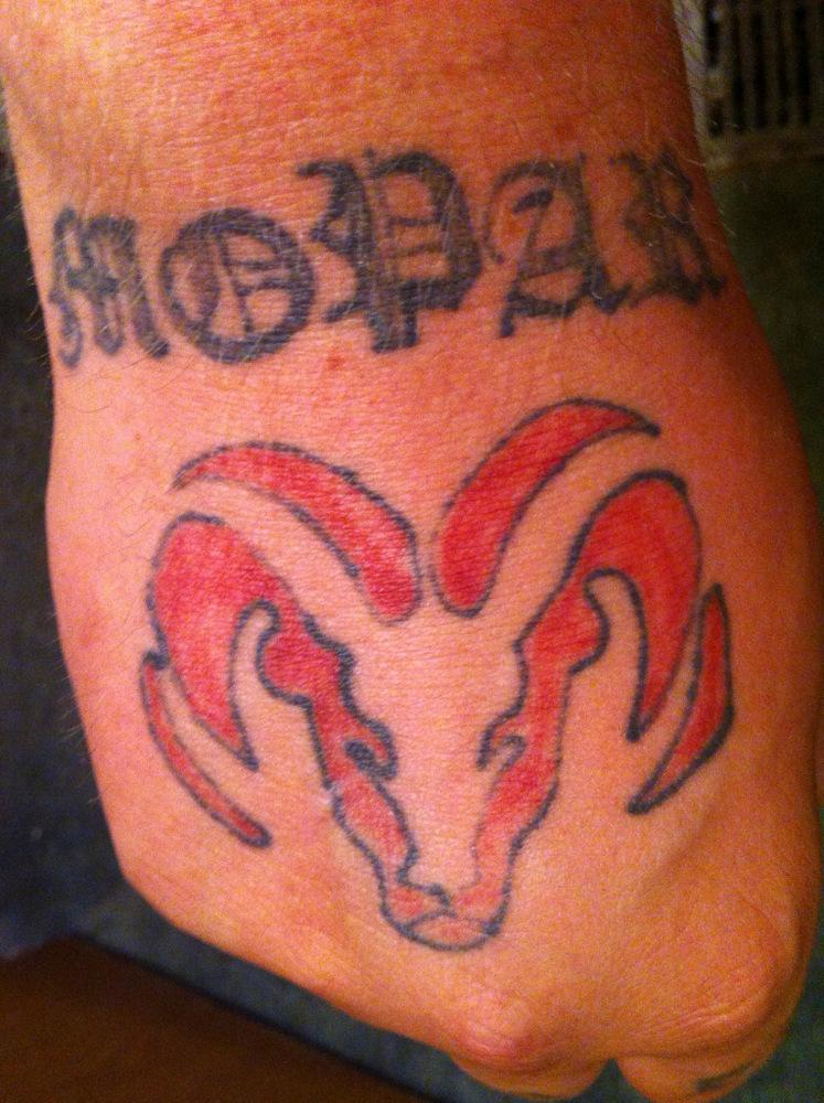 Mopar Tattoo on 2002 Dodge Dakota S