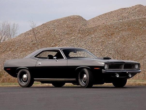 Instagram of the Week: Black 1970 'Cuda With Steelies | Mopar Blog