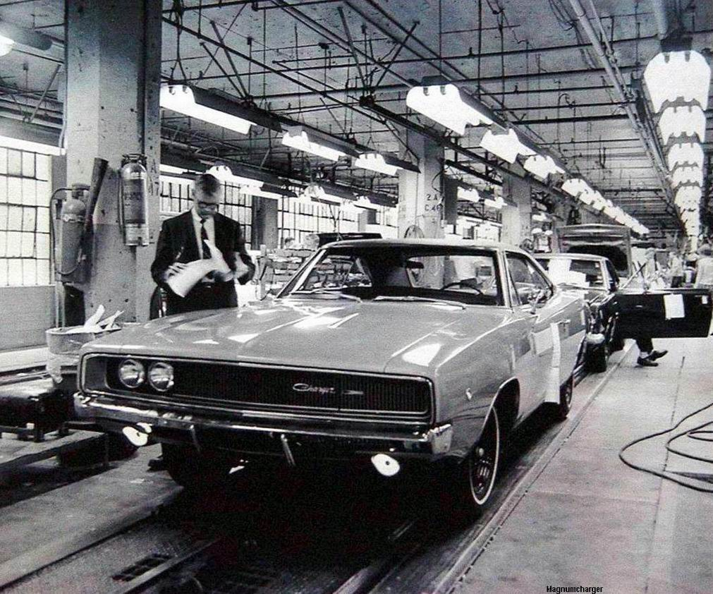 1968 Dodge Charger On The Hamtramck Assembly Line Mopar Blog