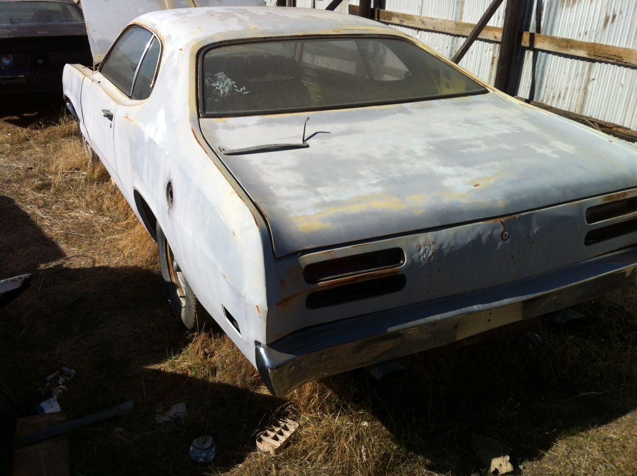 Auto Parts For Sale Redding California: 1971 340 Plymouth Duster Headed For The Crusher