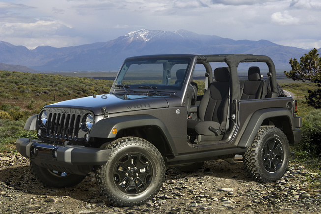 2014-Jeep-Wrangler-Willys-3qtr