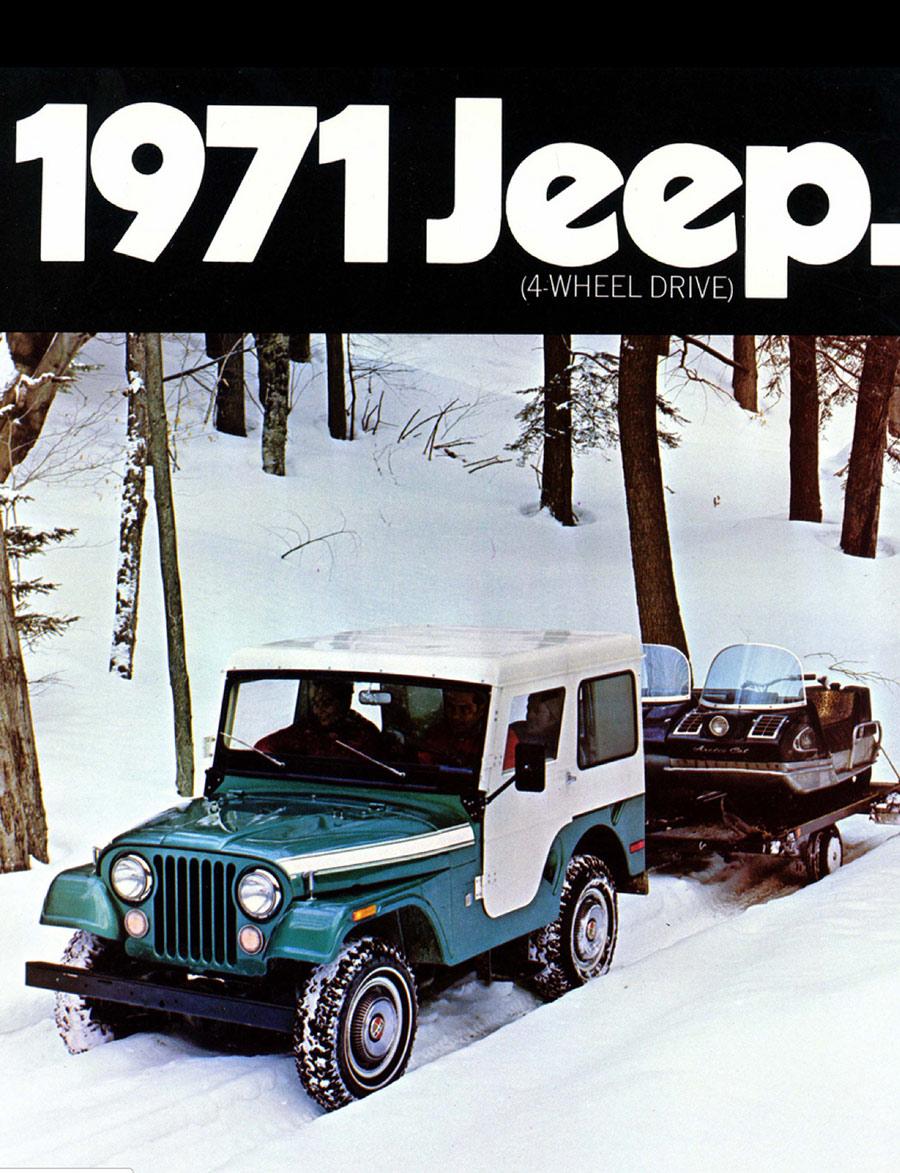 1971-Jeep-CJ5-snowmobiles