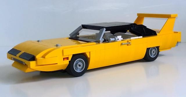 1970-Plymouth-Road-Runner-Superbird-Lego-3qtr
