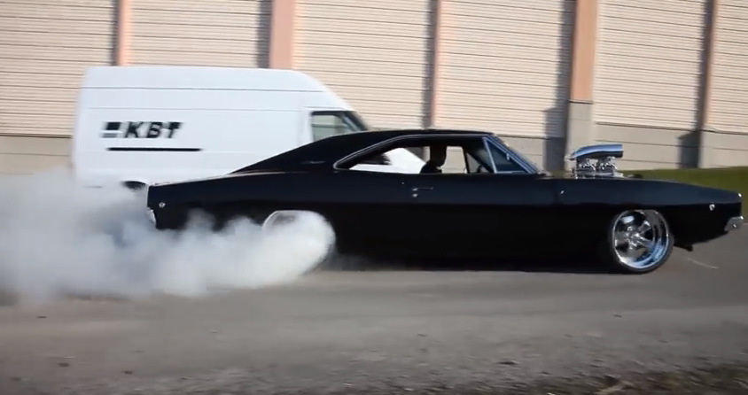 Meguiars-1968-Dodge-Charger-Burnout