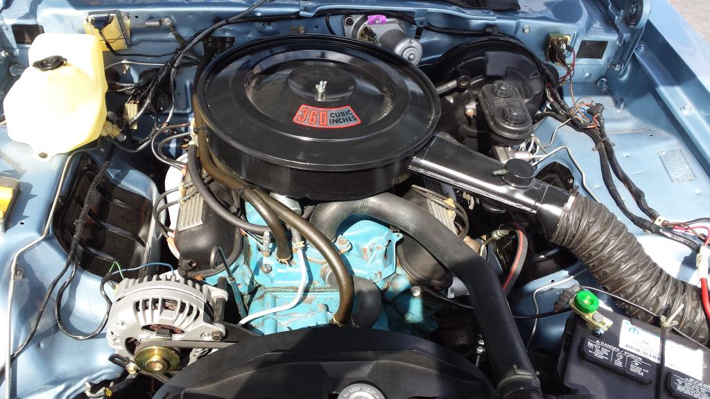 Plymouth Volare Super Coupe Engine