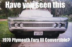 1970 Plymouth Fury III convertible