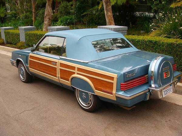 Chrysler Lebaron Town Country Convertible Qtr Rear on 1981 Chrysler Town And Country
