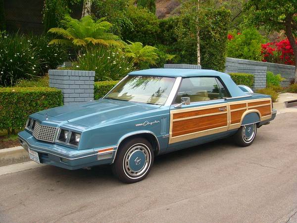1985-Chrysler-LeBaron-Town-Country-Convertible-3qtr