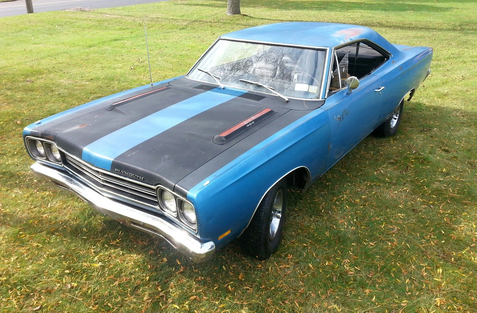 Original Paint B5 Blue 4-Speed 1969 Plymouth Road Runner on eBay ...