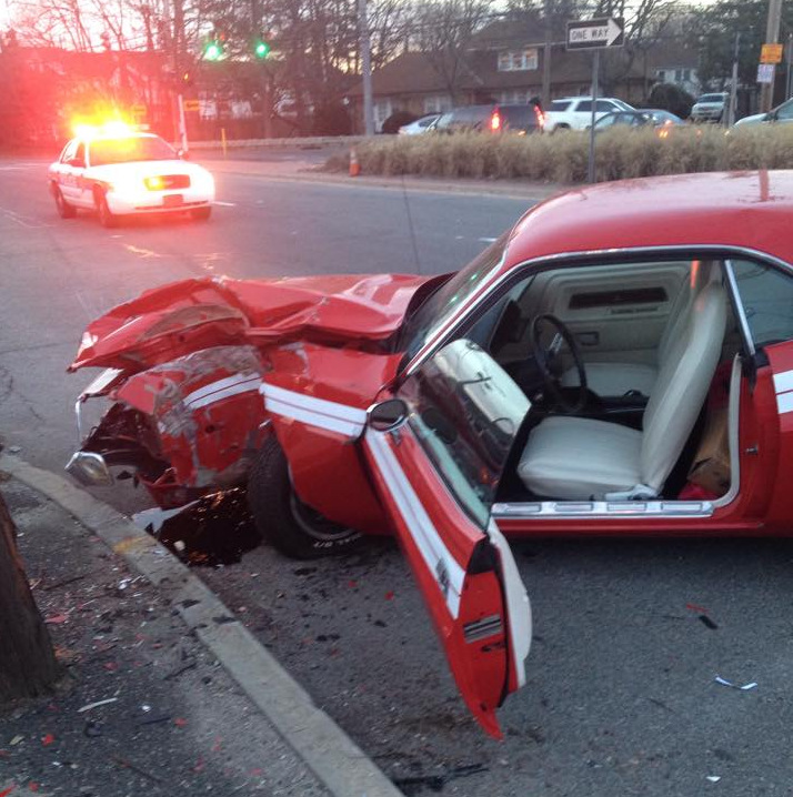 Classic Dodge Challenger Wrecked Near Farmingdale New