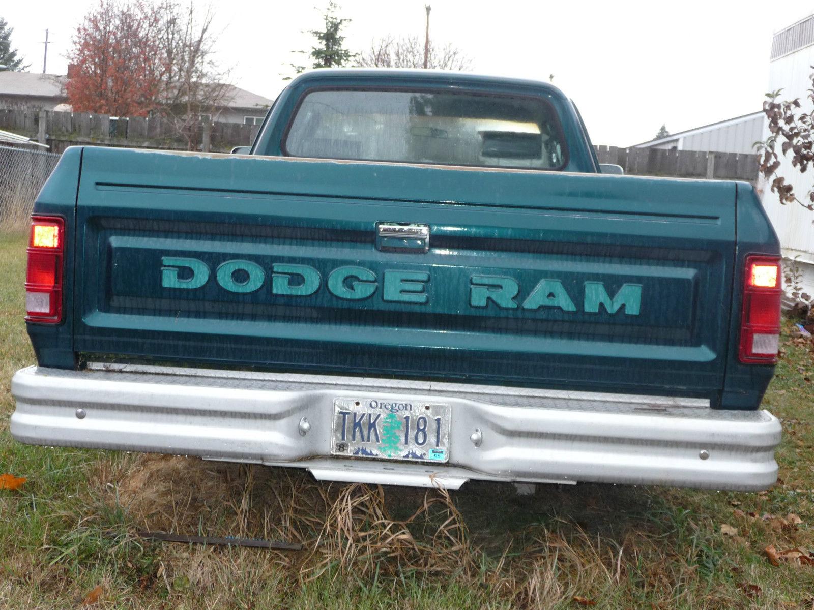 1993 Dodge Ram Pickup With 70 Miles On Ebay