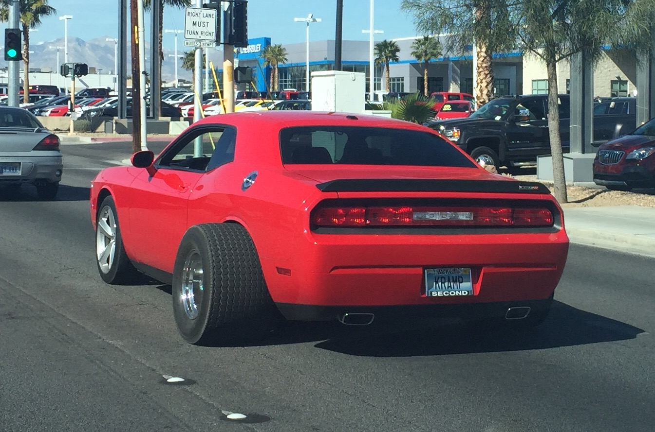 Dodge-Challenger-red-fat-tire