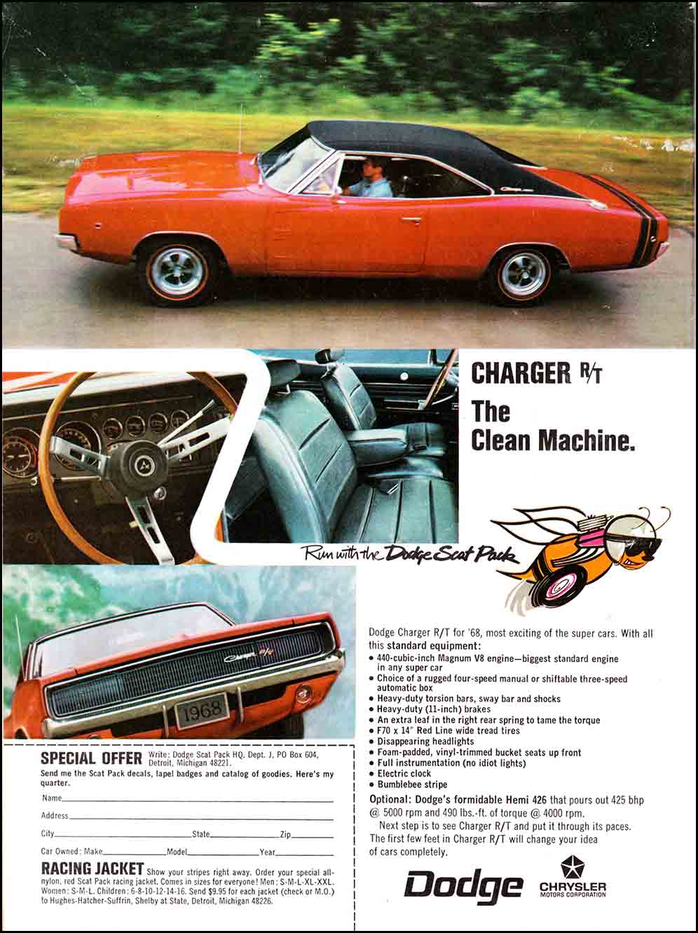 dodge charger 1968 ads ad print mopar muscle wildaboutcarsonline advertising hemi cars 1969 advertisement advertisements auto rewind retro chargers v8